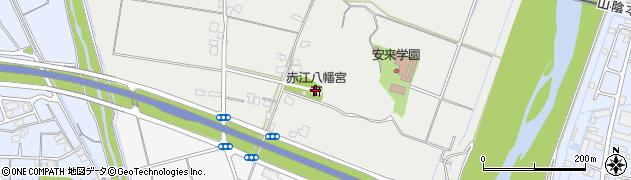 赤江八幡宮周辺の地図