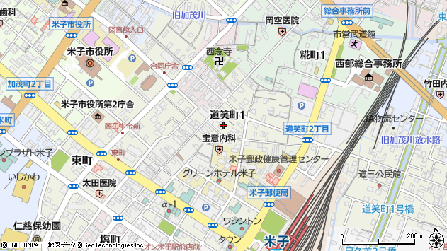 〒683-0064 鳥取県米子市道笑町の地図