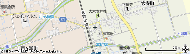 滋賀県長浜市本町周辺の地図