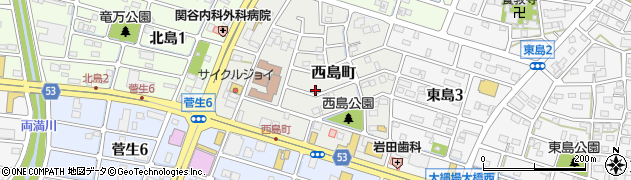 岐阜県岐阜市西島町周辺の地図