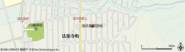 滋賀県長浜市浅井高原周辺の地図