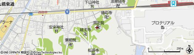 洞正院周辺の地図