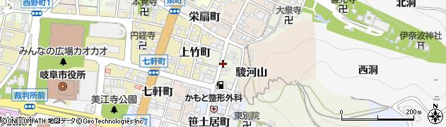 岐阜県岐阜市常盤町周辺の地図
