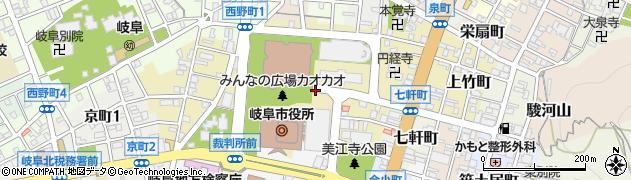 岐阜県岐阜市司町周辺の地図