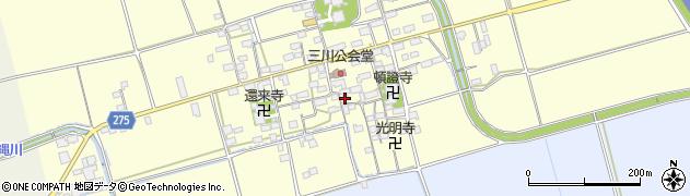 滋賀県長浜市三川町周辺の地図