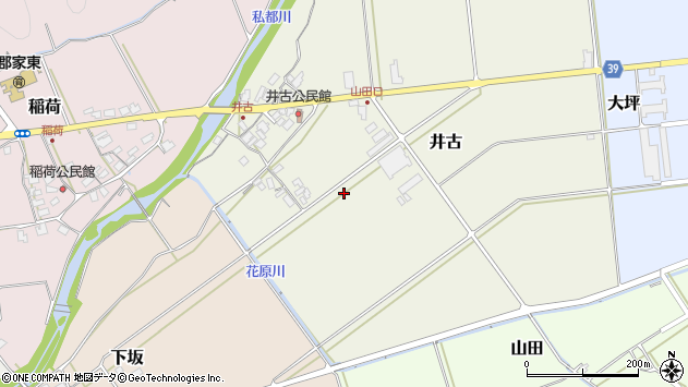 〒680-0425 鳥取県八頭郡八頭町井古の地図