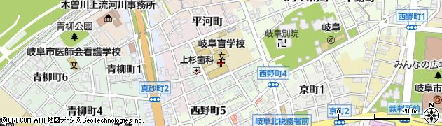 岐阜県岐阜市北野町周辺の地図