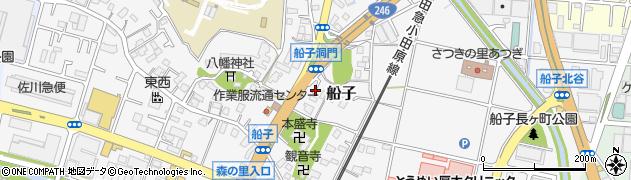神奈川県厚木市船子周辺の地図