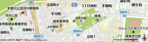 岐阜県岐阜市天神町周辺の地図