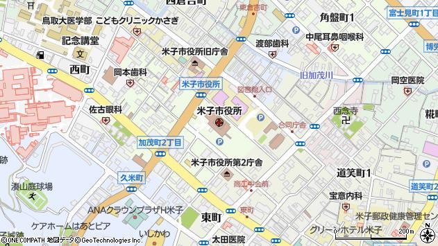 〒683-0000 鳥取県米子市(以下に掲載がない場合)の地図