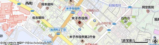 鳥取県米子市周辺の地図