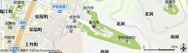 善光寺安乗院周辺の地図