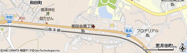 島根県安来市黒井田町周辺の地図