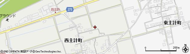 滋賀県長浜市西主計町周辺の地図