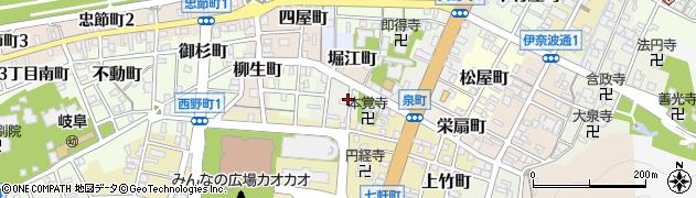 岐阜県岐阜市緑町周辺の地図