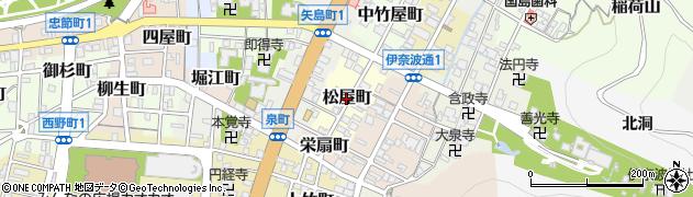 岐阜県岐阜市松屋町周辺の地図