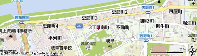 岐阜県岐阜市忠節(3丁目南町)周辺の地図