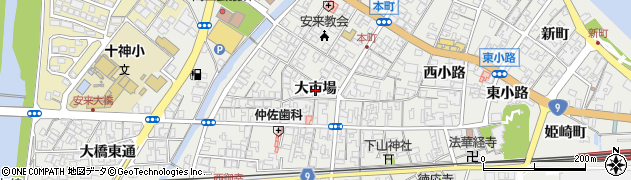 島根県安来市安来町(大市場)周辺の地図
