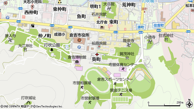 〒682-0822 鳥取県倉吉市葵町の地図