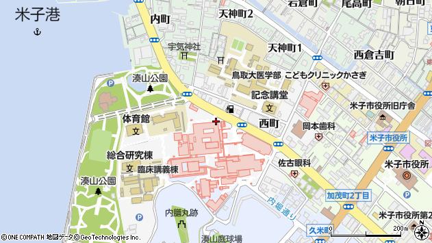 〒683-0826 鳥取県米子市西町の地図