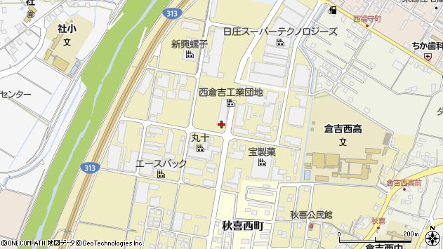 〒682-0925 鳥取県倉吉市秋喜の地図