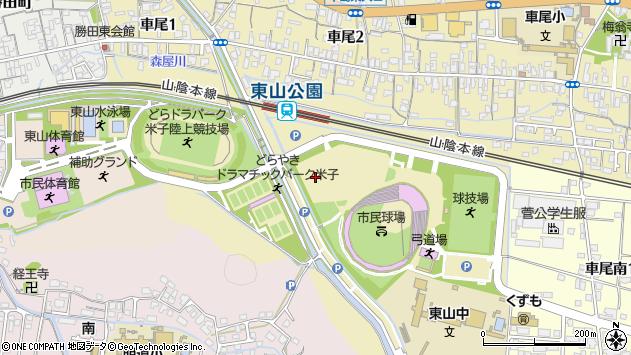 〒683-0006 鳥取県米子市車尾の地図