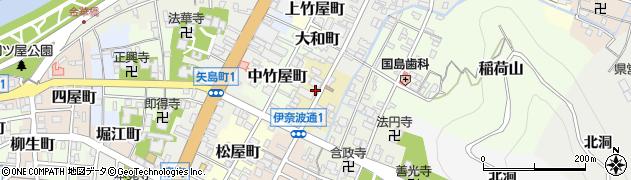 岐阜県岐阜市米屋町周辺の地図