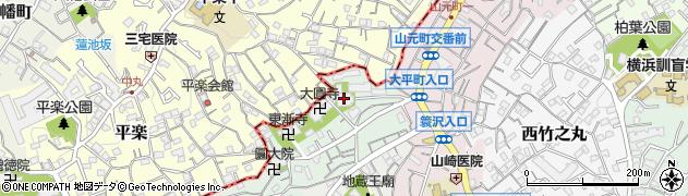 西有寺周辺の地図