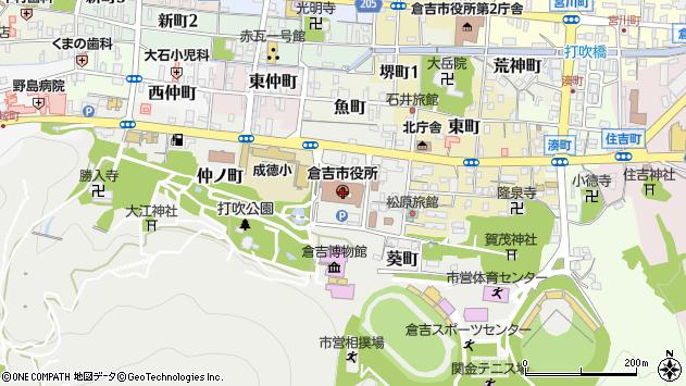 〒682-0000 鳥取県倉吉市(以下に掲載がない場合)の地図