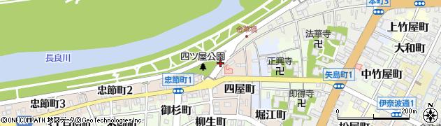 岐阜県岐阜市四屋町周辺の地図