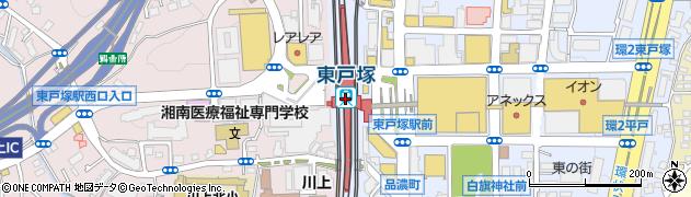 神奈川県横浜市戸塚区周辺の地図
