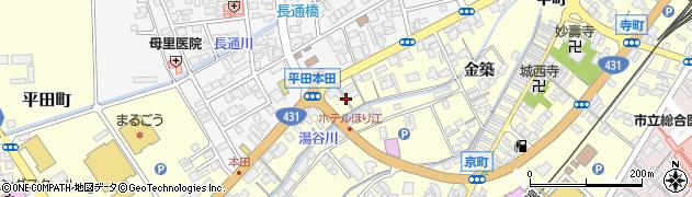 島根県出雲市平田町(本田)周辺の地図