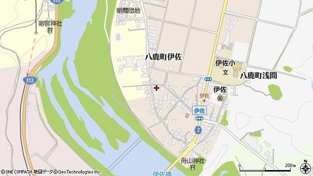 〒667-0012 兵庫県養父市八鹿町伊佐の地図