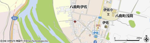 兵庫県養父市八鹿町伊佐周辺の地図