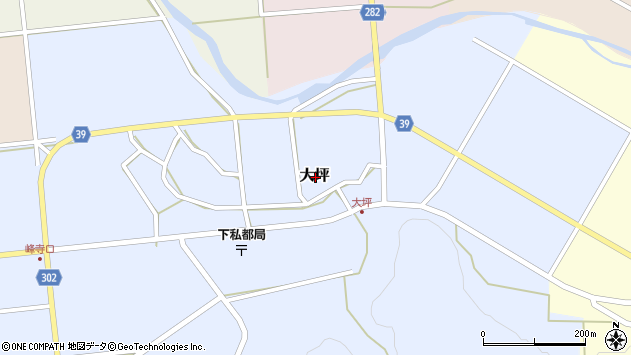 〒680-0435 鳥取県八頭郡八頭町大坪の地図