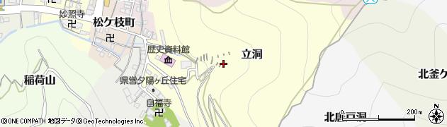 岐阜県岐阜市立洞周辺の地図