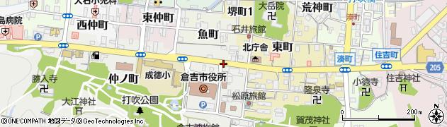 倉吉市役所前周辺の地図