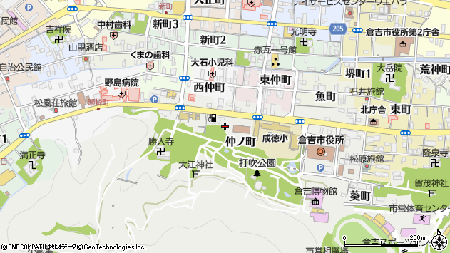 〒682-0824 鳥取県倉吉市仲ノ町の地図