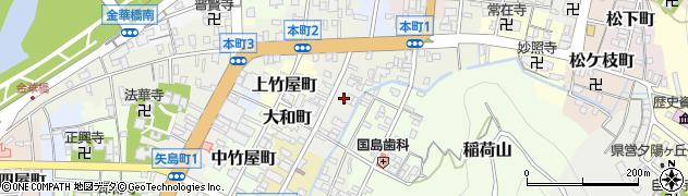 岐阜県岐阜市靱屋町周辺の地図