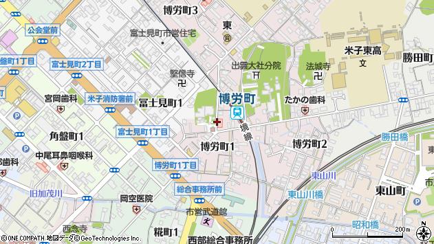 〒683-0052 鳥取県米子市博労町の地図