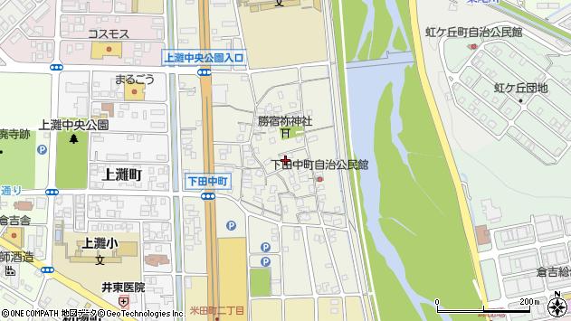 〒682-0812 鳥取県倉吉市下田中町の地図