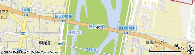 新日野橋周辺の地図