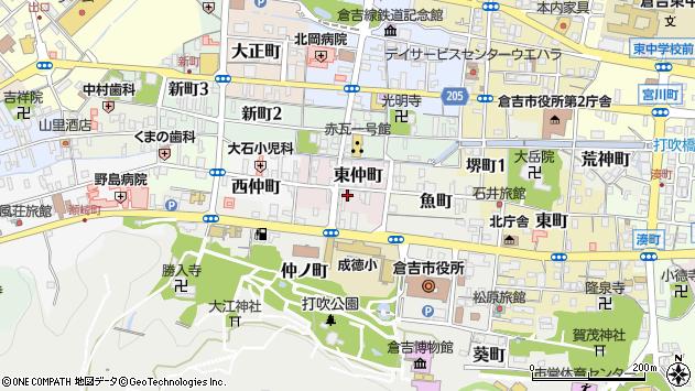 〒682-0826 鳥取県倉吉市東仲町の地図