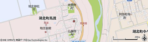 滋賀県長浜市湖北町馬渡周辺の地図