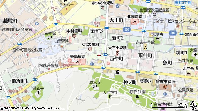 〒682-0862 鳥取県倉吉市西町の地図