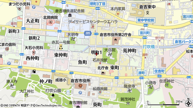 〒682-0885 鳥取県倉吉市堺町の地図