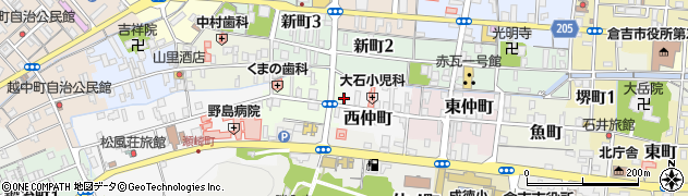 まきた旅館周辺の地図