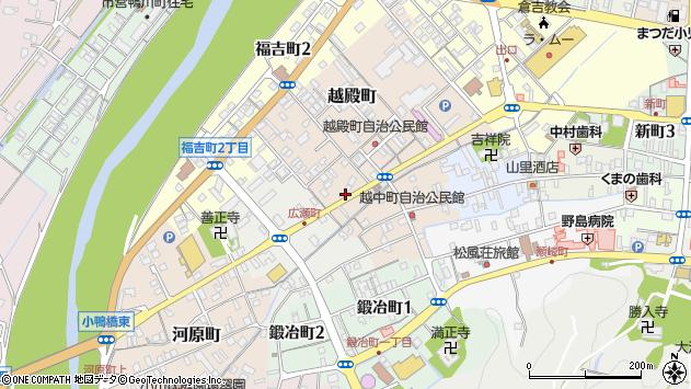 〒682-0865 鳥取県倉吉市越中町の地図