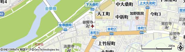 岐阜県岐阜市甚衛町周辺の地図