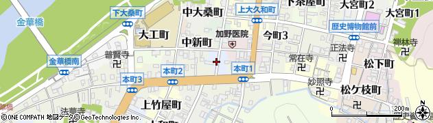岐阜県岐阜市魚屋町周辺の地図